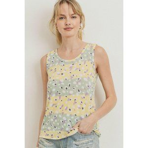 GioVanni Di Rocco Sleeveless Top Printed Terry Bac
